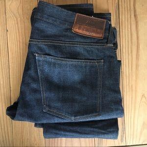 J Crew 484 Slim Fit Jeans Kaihara Denim Men 32/32